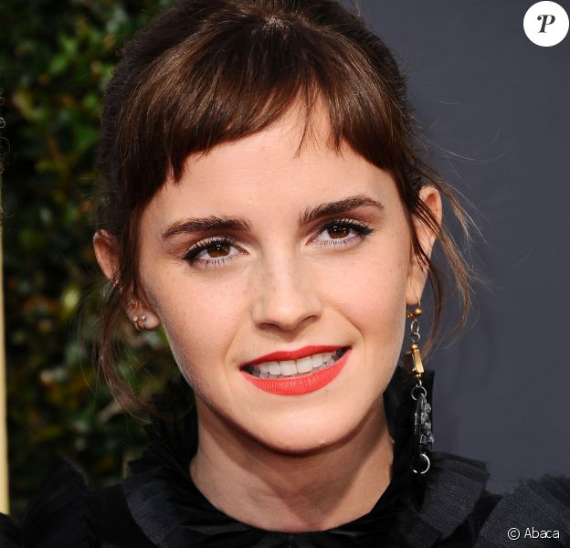 Emma Watson lors des Golden Globes Awards à Los Angeles, le 7 janvier 2018.