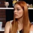 Maëva Coucke lors de son Facebook Live pour Purepeople.com, le 9 janvier 2018.