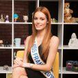 Exclusif - Rendez-vous avec Miss France 2018, Maëva Coucke dans les locaux de Webedia à Levallois-Perret le 9 Janvier 2018. © Tiziano Da Silva / Bestimage