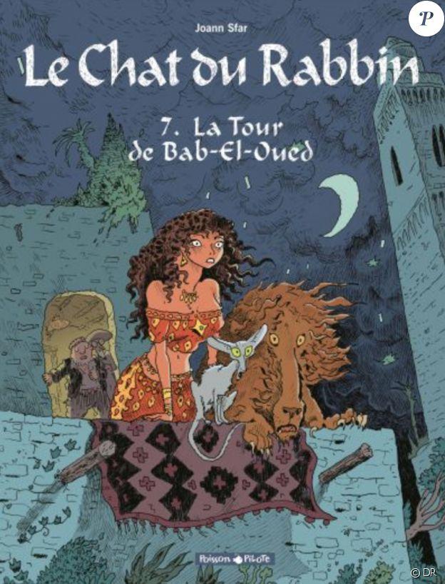 """""""Le Chat du rabbin - Tome 7 : La Tour de Bab-El-Oued"""" de Joann Sfar, novembre 2017."""
