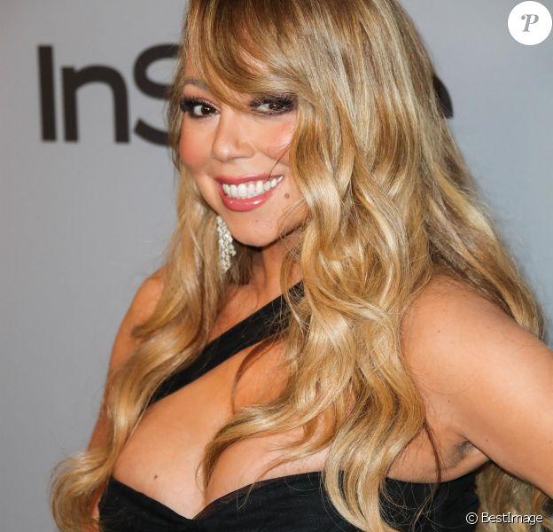 "Mariah Carey - People à la soirée ""InStyle and Warner Bros. Pictures Golden Globe Awards"" à Beverly Hills. Le 7 janvier 2018."
