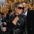Mariah Carey arrive à l'hôtel Plaza Athénée à Paris le 6 décembre 2017.