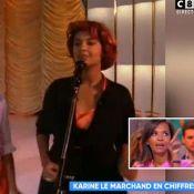 """Karine Le Marchand : Sa première télé """"avec 10 kilos de plus et une perruque"""" !"""