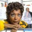 """Karine Le Marchand déguisée en abeille lors de ses débuts à la télévision. """"Touche pas à mon poste"""" (C8), lundi 15 janvier 2018."""