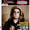 Catherine Deneuve en couverture de Libération, le 15 janvier 2018.