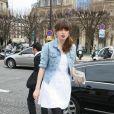 Cécile Cassel au défilé Loui Vuitton