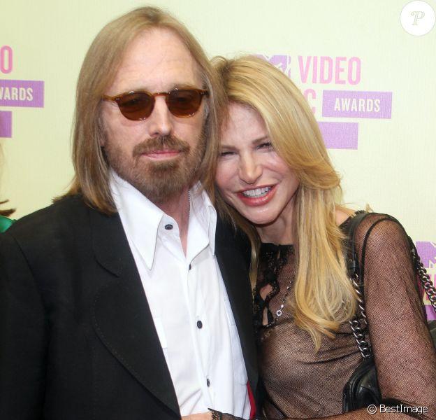Tom Petty et sa femme Dana en septembre 2012 à Los Angeles lors des MTV Video Music Awards.