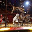 Carmen Zander et ses tigres - 2ème jour - 42ème Festival International du Cirque de Monte-Carlo, le 19 janvier 2018. © Claudia Albuquerque/Bestimage