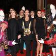 La princesse Stéphanie de Monaco était accompagnée de ses deux filles, Pauline Ducruet et Camille Gottlieb, le 19 janvier 2018 pour le 2e jour du 42e Festival International du Cirque de Monte-Carlo. © Jean-Charles Vinaj/Pool Monaco/Bestimage