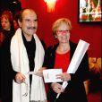 Gérard Hernandez et sa femme Micheline - Soirée de la Saint-Valentin au Paradis Latin. Le 14 févier 2015.