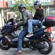 Leonardo DiCaprio et Bar Refaeli font du scooter
