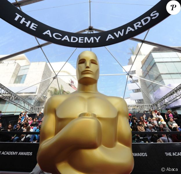 La fameuse statuette des Oscars (photo prise lors de la cérémonie du 26 février 2012)