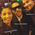 Camille Lacourt, JoeyStarr et Hajiba Fahmy - Instagram, 25 janvier 2018