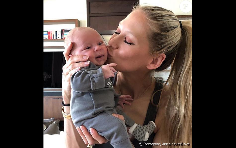 Anna Kounikova et son fils Nicholas. Janvier 2018.