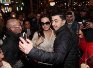 """Angelina Jolie : Bain de foule et """"selfies"""" à Paris, les fans sous le charme"""
