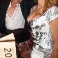 """Pamela Anderson et le magicien Hans Klok - Soirée """"Lambertz Monday Night 2018"""" à Cologne en Allemagne le 29 janvier 2018."""