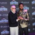 Chadwick Boseman et Stan Lee - Avant-première de 'Black Panther' à Hollywood, le 29 janvier 2018 © Chris Delmas/Bestimage