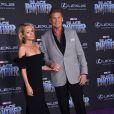 David Hasselhoff et sa fiancée Hayley Roberts- Avant-première de 'Black Panther' à Hollywood, le 29 janvier 2018 © Chris Delmas/Bestimage