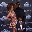 Sterling K. Brown et avec sa femme Ryan Michelle Bathe et son fils Andrew- Avant-première de 'Black Panther' à Hollywood, le 29 janvier 2018 © Chris Delmas/Bestimage