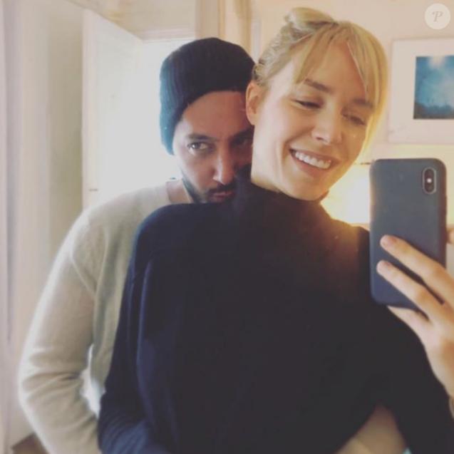 K-Maro et son épouse  Anne  -  Sophie Mignaux sur une photo publiée sur Instagram le 31 janvier 2018