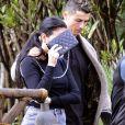 Cristiano Ronaldo fête l'anniversaire de sa compagne Georgina Rodriguez à Marbella. Le 28 janvier 2018.