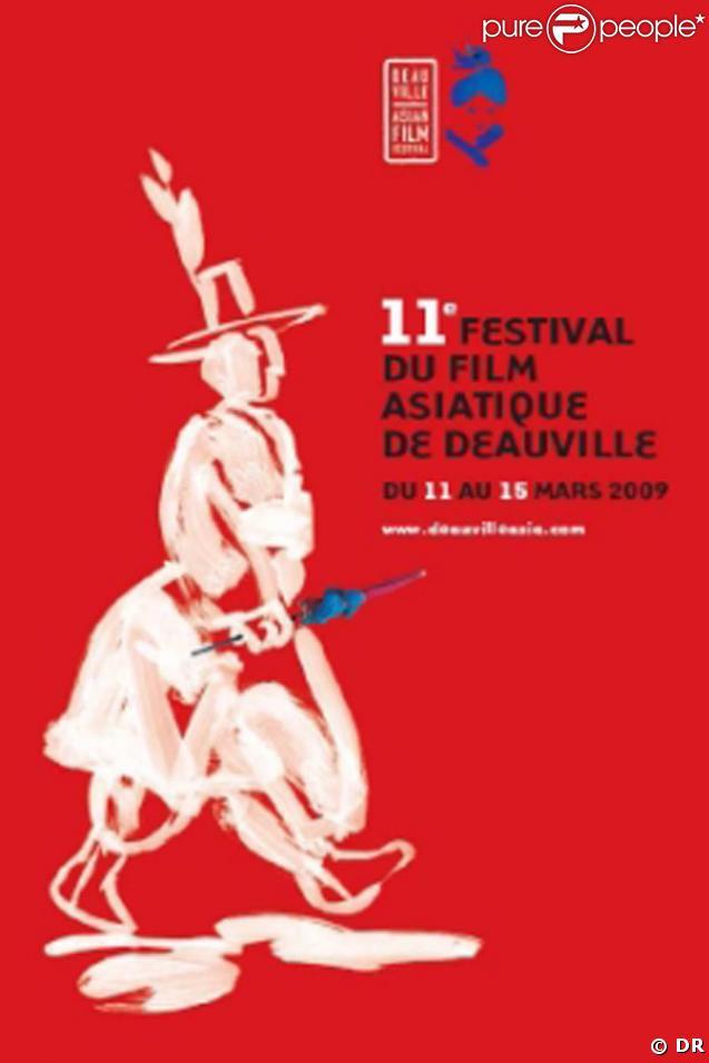 L'affiche du 11e Festival du Cinéma Asiatique de Deauville, qui s'est tenu du 11 au 15 mars 2009 !