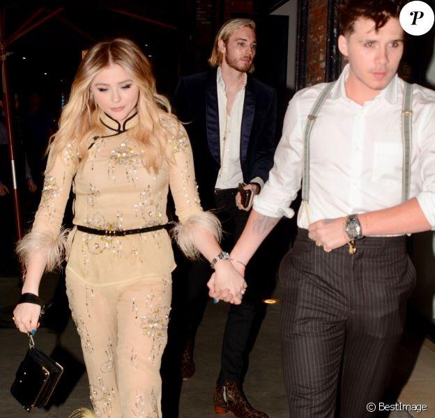 Exclusif - Chloe Moretz fête son 21ème anniversaire avec son compagnon Brooklyn Beckham à Los Angeles le 3 février 2018