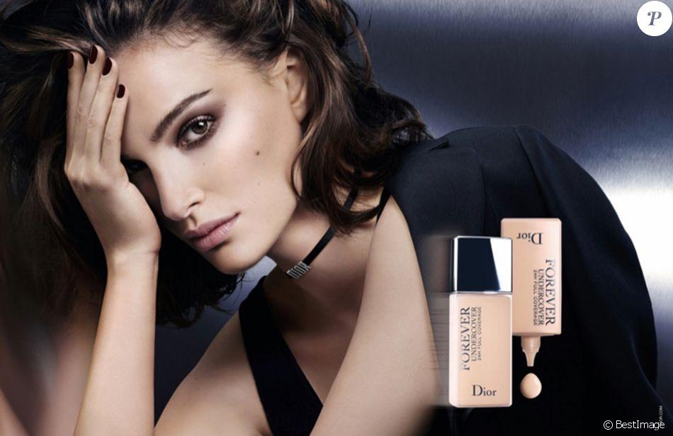 "Natalie Portman, visage du fond de teint ""Diorskin Forever Undercover"" de Dior. Février 2018."