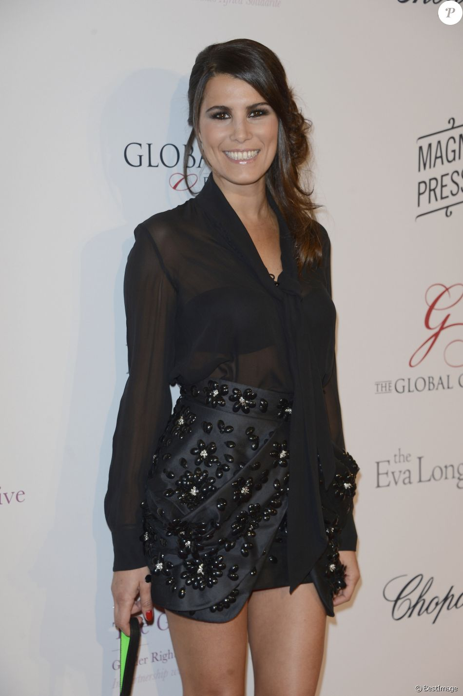 """Karine Ferri - 4e édition du """"Global Gift Gala"""", coprésidée par Eva Longoria et présentée par Nikos Aliagas, au George V à Paris le 13 mai 2013."""