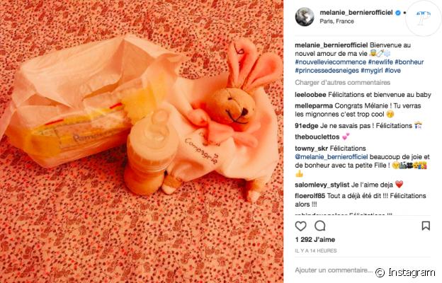 Capture du compte Instagram de Mélanie Bernier, jeune maman !
