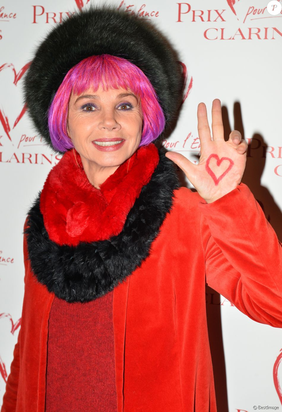 Semi-exclusif - Victoria Abril - Goûter du Coeur du prix Clarins pour l'enfance organisé par Clarins, à l'hôtel Plaza Athénée à Paris, France, le 14 février 2018.  © Veeren/Bestimage