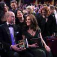 Kate Middleton (enceinte) et le prince William à la 71ème cérémonie des British Academy Film Awards (BAFTA) au Royal Abert Hall à Londres, le 18 février 2018.
