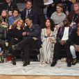 Beyoncé, Blue Ivy Carter, Tina Knowles, son mari Richard Lawson, Diddy et Cassie assistent au NBA All-Star Game 2018 au Staples Center. Los Angeles, le 18 février 2018.