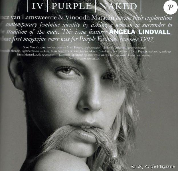 "La superbe Angela Lindvall pour ""Purple Magazine"""