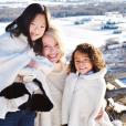 Katherine Heigl et ses filles Nancy et Adalaide sur une photo publiée sur Instagram. Janvier 2018.