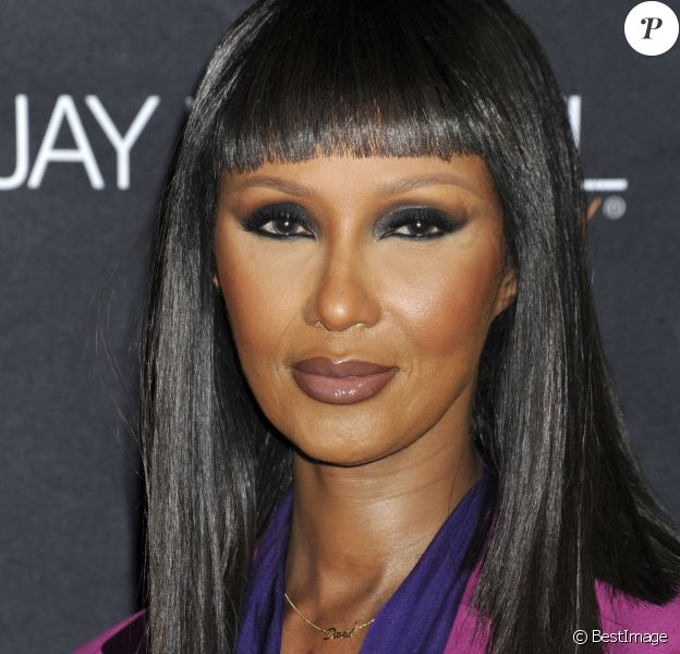 "Iman Bowie à la soirée ""Jay Manuel Beauty x Simon Launch Event"" à New York, le 26 octobre 2017. © Future-Image via Zuma Press/Bestimage"