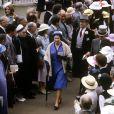 La reine Elizabeth II en juin 1981 au Royal Ascot.