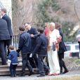 Les funérailles de Natasha Richardson dans l'église épiscopale de Millbrook dans l'état de New York le 22 mars 2009