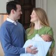 Le prince Philip de Serbie et la princesse Danica sont devenus le 25 février 2018 les parents d'un petit garçon, le prince Stefan. Photo du 3 mars, lors du retour de la petite famille au palais royal à Belgrade, publiée par la Maison royale de Serbie sur Instagram.