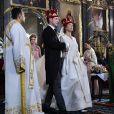 Mariage à Belgrade du prince Philip de Serbie, fils du prince Alexandre de Serbie et de la princesse Maria da Gloria d'Orléans-Bragance avec Danica Marinkovic. Il s'agit du premier mariage princier à Belgrade depuis 95 ans. Belgrade le 7 octobre 2017. 07/10/2017 - Belgrade