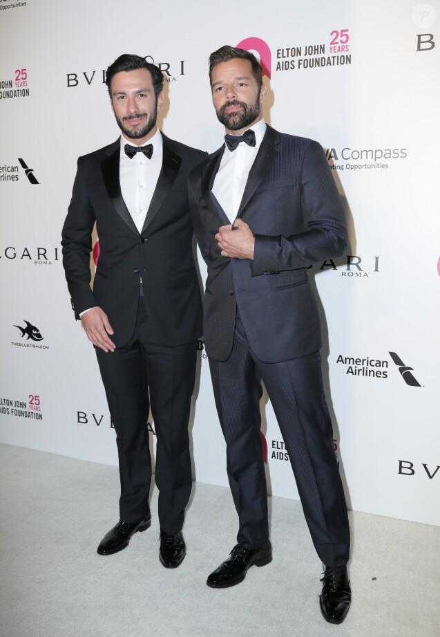 "Ricky Martin et son mari Jwan Yosef - 26e édition de la soirée ""Elton John AIDS Foundation Oscar Party"" 2018 à West Hollywood le 4 mars 2018 © Pma/AdMedia via ZUMA Wire/ Bestimage"
