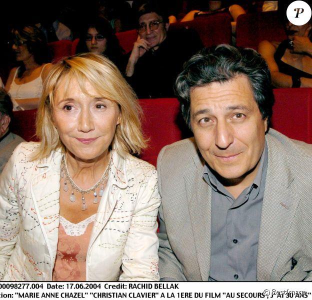 Marie-Anne Chazel et Christian Clavier à Paris en 2004