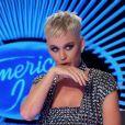 Katy Perry pendant l'enregistrement de l'émission American Idol à Los Angeles, le 11 mars 2018.