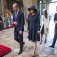 Le prince William, duc de Cambridge, Kate Catherine Middleton (enceinte), duchesse de Cambridge, Meghan Markle et le prince Harry - La famille royale d'Angleterre lors de la cérémonie du Commonwealth en l'abbaye Westminster à Londres. Le 12 mars 2018  Annual multi-faith service in celebration of the Commonwealth. 12 March 2018.12/03/2018 - Londres