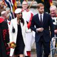 Le prince Harry et sa fiancée Meghan Markle - La famille royale d'Angleterre à son arrivée à la cérémonie du Commonwealth en l'abbaye Westminster à Londres.