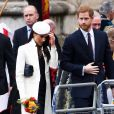 Le prince Harry et sa fiancée Meghan Markle - La famille royale d'Angleterre à son arrivée à la cérémonie du Commonwealth en l'abbaye Westminster à Londres. Le 12 mars 2018  Annual multi-faith service in celebration of the Commonwealth. 12 March 2018.12/03/2018 - Londres