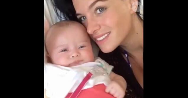 Jade Lagardère a partagé une vidéo pour les 4 ans de sa fille Mila, sur Instagram, mars 2018
