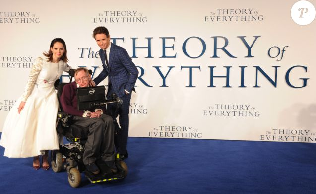 "Felicity Jones, Eddie Redmayne, Stephen Hawking - Première du film ""The Theory of Everything"" à Londres le 9 décembre 2014."