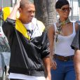 Rihanna et Chris Brown à Beverly Hills, le 26 août 2008.