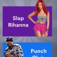 """Pub Snapchat ayant provoqué un tollé sur les réseaux sociaux. Celle-ci demandait à ses utilisateurs s'ils préféraient """"gifler"""" Rihanna ou """"cogner"""" Chris Brown. En colère, Chris Brown (par le biais de son avocat) et Rihanna ont vivement réagi. """"Honte à vous"""", a scandé la star barbadinenne sur Instagram le 15 mars 2018."""